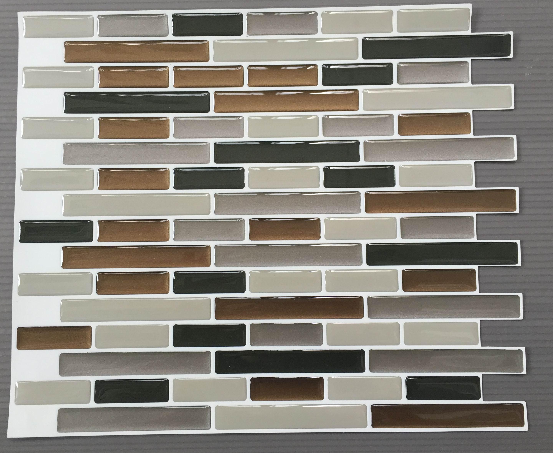 3d Self Adhesive Vinyl Wall Tiles Shiny Brown 3d Gel Wall